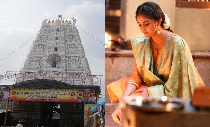 keerthy suresh temple visit