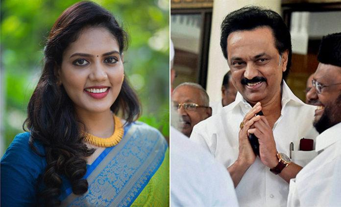newsreader panimalar meets tamilnadu cm mkstalin